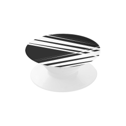 Black and White Diagonal Lines Air Smart Phone Holder