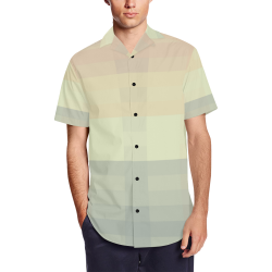 Like a Candy Sweet Pastels Pattern Men's Short Sleeve Shirt with Lapel Collar (Model T54)