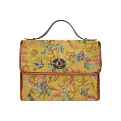 Hooping in the Spring Garden Waterproof Canvas Bag/All Over Print (Model 1641)