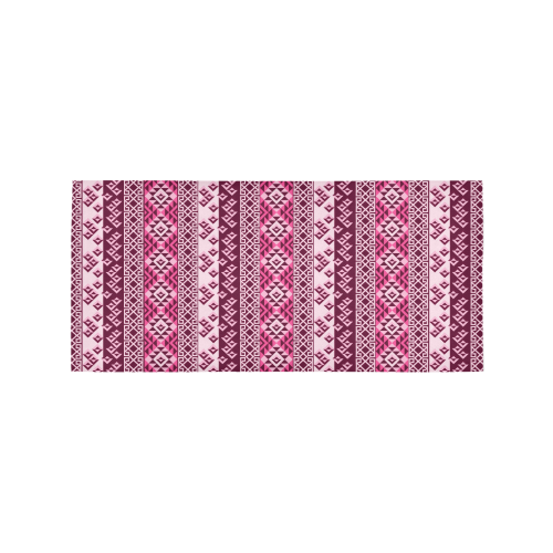 Vintage Mayan Pattern Red Area Rug 7'x3'3''