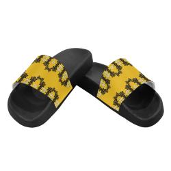 Ornate circulate is festive in flower decorative Men's Slide Sandals (Model 057)