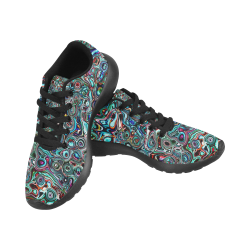 VanGogh Swirl by Jera Nour Women's Running Shoes/Large Size (Model 020)