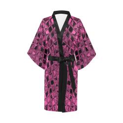 Metallic Rose Kimono Robe