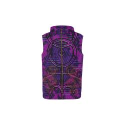 Menssa's Serpent Glyph All Over Print Sleeveless Zip Up Hoodie for Kid (Model H16)