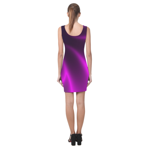 Purple Blossom Medea Vest Dress (Model D06)