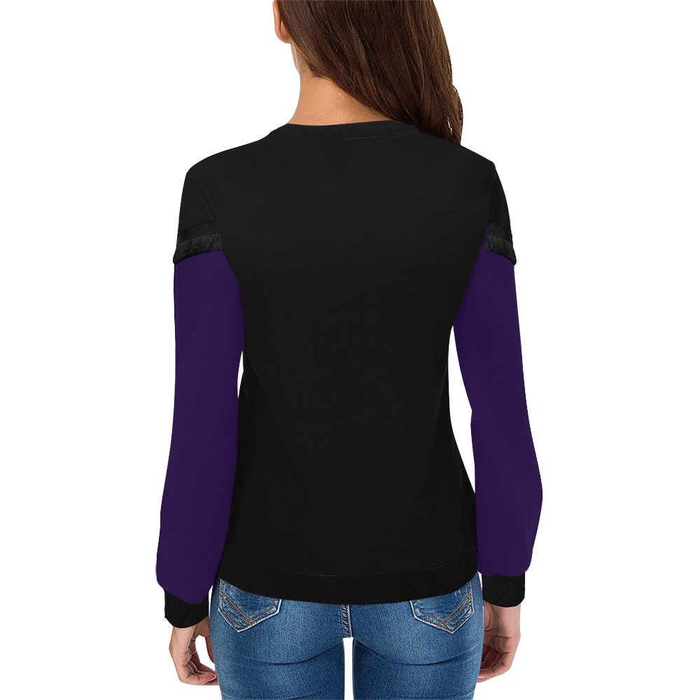 Bright Colourful Tropics Women's Fringe Detail Sweatshirt (Model H28)