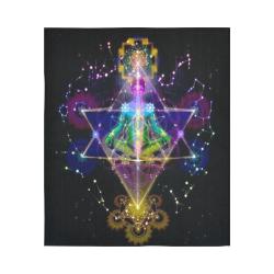 "Spiritual Ascension Twin Serpents Kundalini Blacklight Magick Cotton Linen Wall Tapestry 51""x 60"""