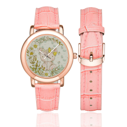 I love my Teddy Women's Rose Gold Leather Strap Watch(Model 201)
