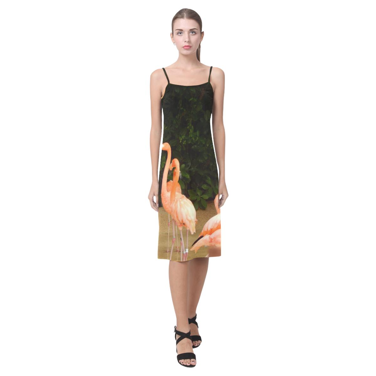 Famingo Garden dress Alcestis Slip Dress (Model D05)