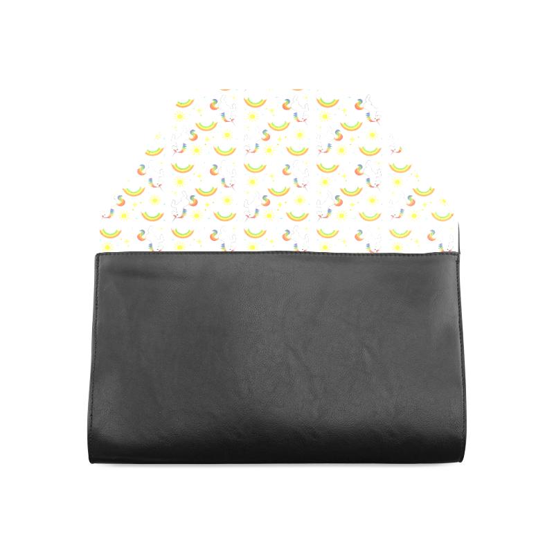 Rainbows and Unicorns Clutch Bag (Model 1630)