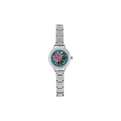 Beautiful Vintage Flower Women's Italian Charm Watch(Model 107)