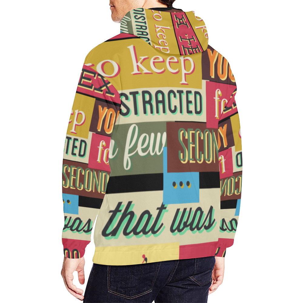 This is All Over Print Hoodie for Men (USA Size) (Model H13)
