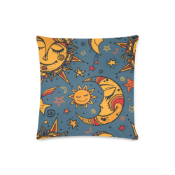 "Cute Moons & Stars Custom Zippered Pillow Case 16""x16""(Twin Sides)"