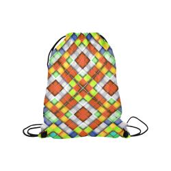 "colorful geometric pattern Medium Drawstring Bag Model 1604 (Twin Sides) 13.8""(W) * 18.1""(H)"