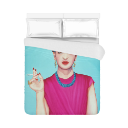 """FRIDA IN THE PINK Duvet Cover 86""""x70"""" ( All-over-print)"""