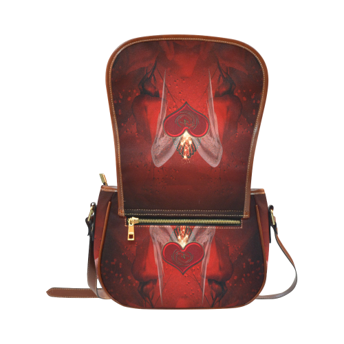 Heart with wings Saddle Bag/Large (Model 1649)