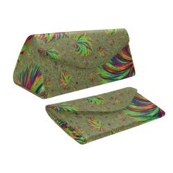 Trippy Rainbow Fractal Custom Foldable Glasses Case