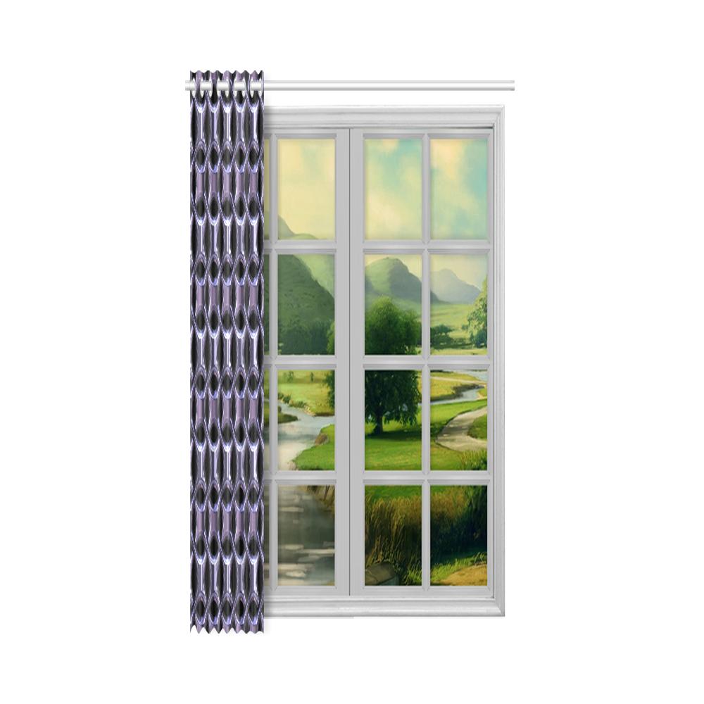 """Shiny metal braid New Window Curtain 52"""" x 84""""(One Piece)"""