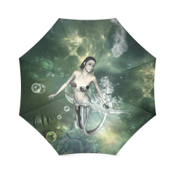 Awesome mermaid in the deep ocean Foldable Umbrella (Model U01)