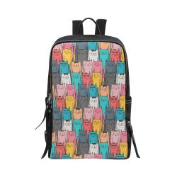 Cartoon Cat Pattern Unisex Slim Backpack (Model 1664)