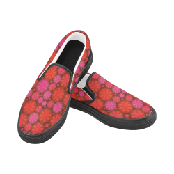 zappwaits 07 - Good afternoon! Women's Slip-on Canvas Shoes (Model 019)