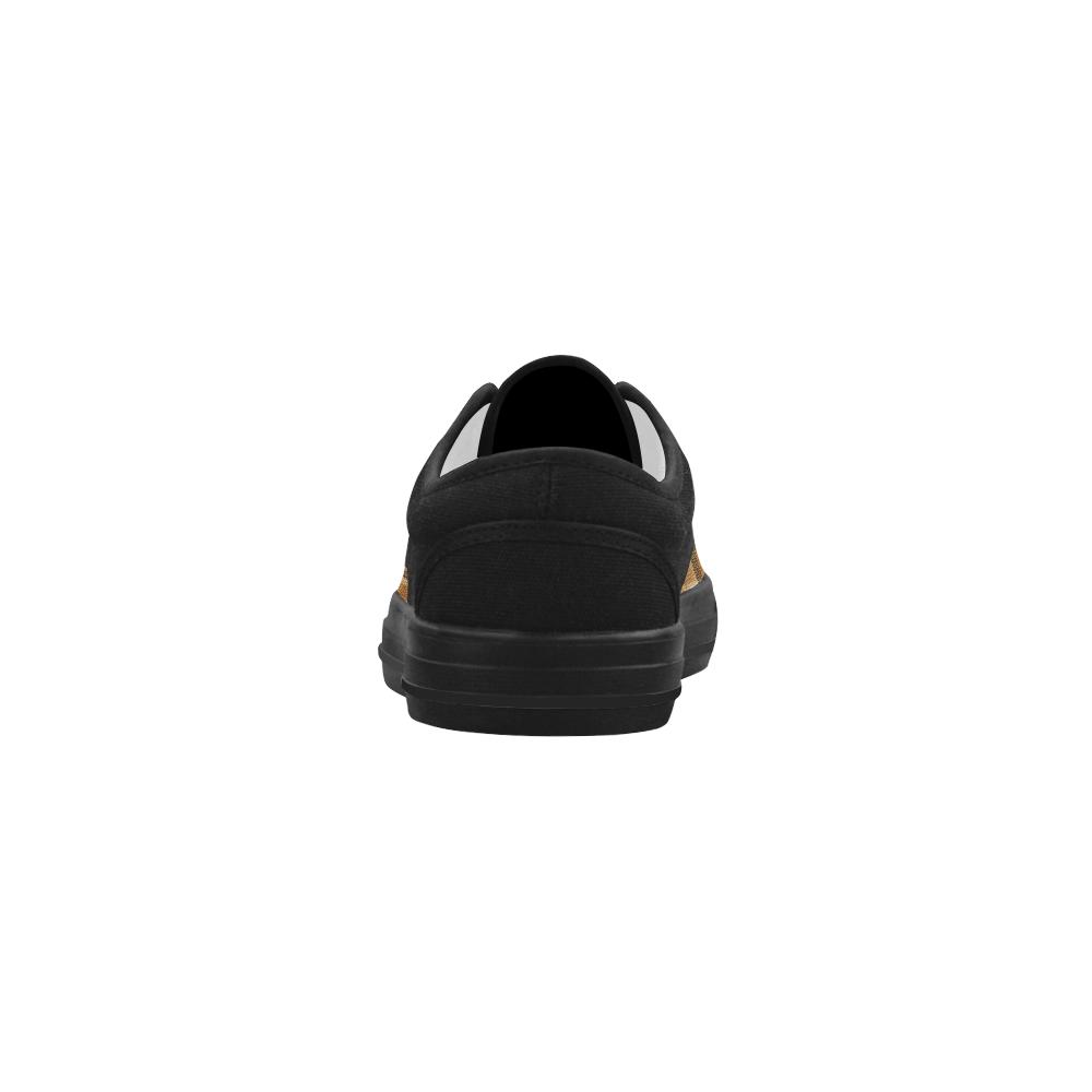 TARTAN DESIGN Aries Men's Canvas Shoes (Model 029)