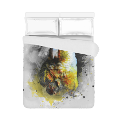 """bird parrot art #parrot #bird Duvet Cover 86""""x70"""" ( All-over-print)"""