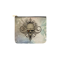 Creepy skull, vintage background Carry-All Pouch 6''x5''