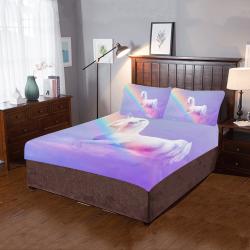 Unicorn and Rainbow 3-Piece Bedding Set