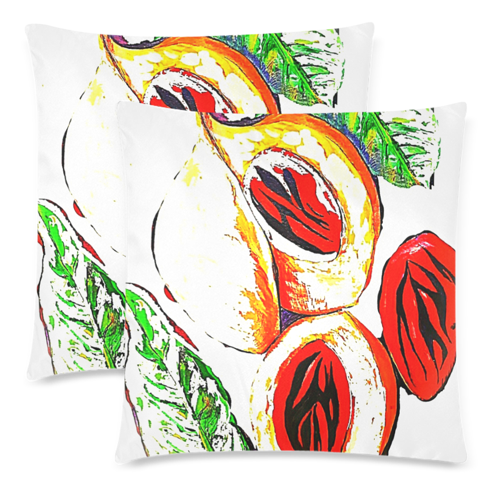"manusartgnd Custom Zippered Pillow Cases 18""x 18"" (Twin Sides) (Set of 2)"