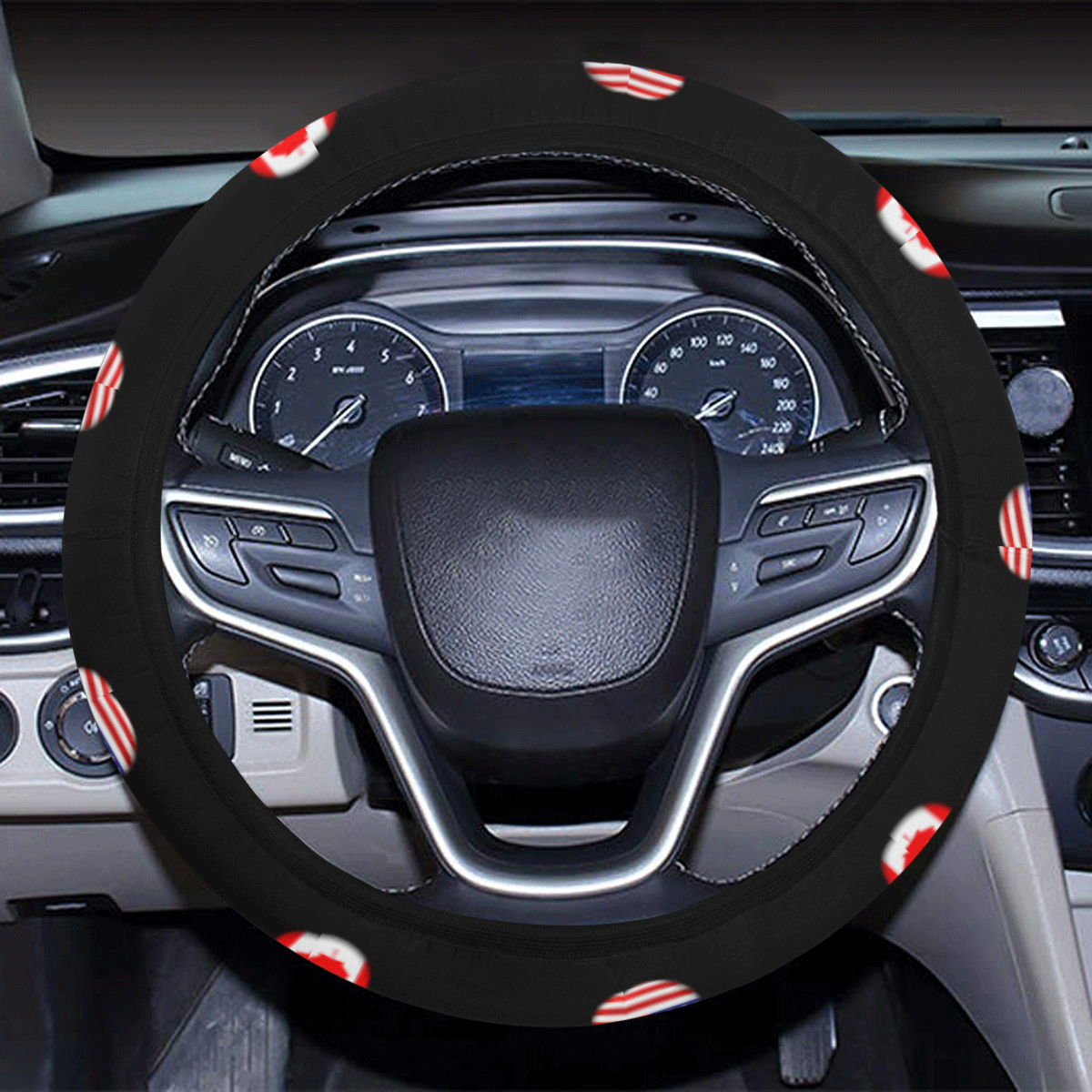 USA Canada Steering Wheel Cover with Elastic Edge