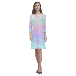 noisy gradient 1 pastel by JamColors Rhea Loose Round Neck Dress(Model D22)