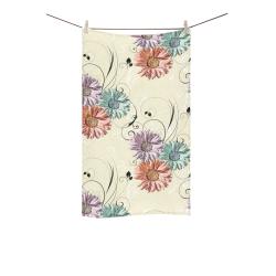 "Flowers on Yellow Custom Towel 16""x28"""
