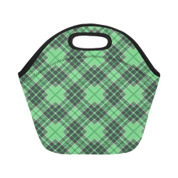 STRIPES LIGHT GREEN Neoprene Lunch Bag/Small (Model 1669)