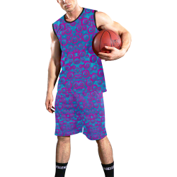 The eyes of freedom in polka dot cartoon pop art All Over Print Basketball Uniform