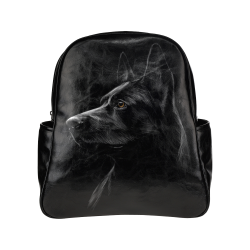 German Shepherd Multi-Pockets Backpack (Model 1636)