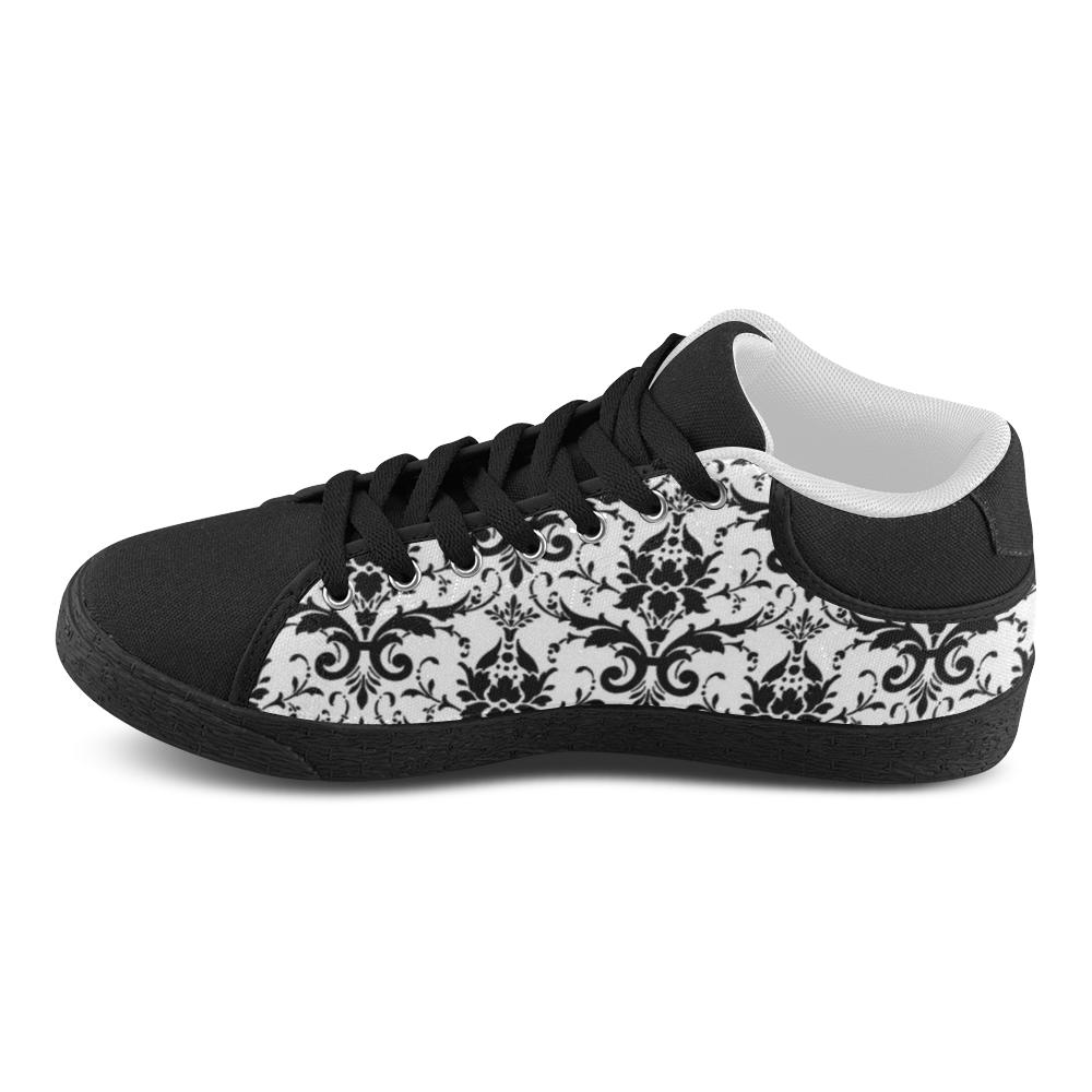 Black&White Women's Chukka Canvas Shoes (Model 003)