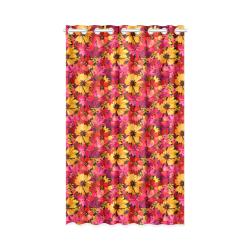 "Flower Pattern New Window Curtain 50"" x 84""(One Piece)"