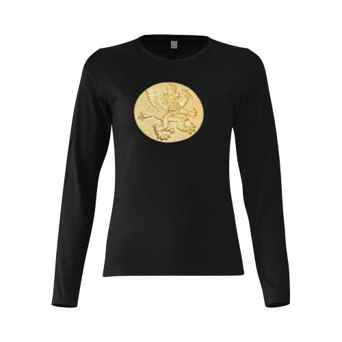 Intanjibles (alt) Logo2 Sunny Women's T-shirt (long-sleeve) (Model T07)