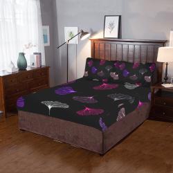 coral ginkgo 3-Piece Bedding Set