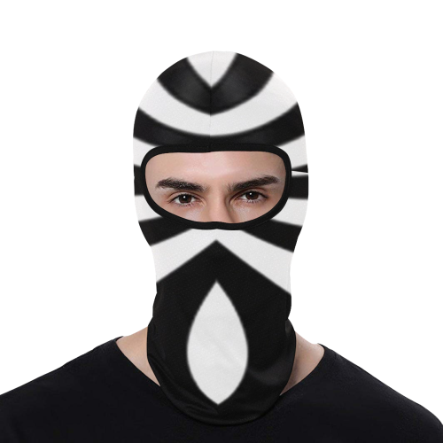 Black and White Tunnel All Over Print Balaclava