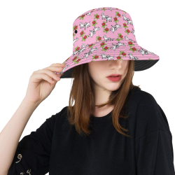 lamb pattern pink All Over Print Bucket Hat
