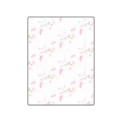 """Pattern Orchidées Blanket 50""""x60"""""""