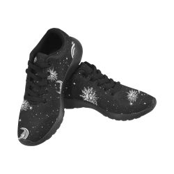 Mystic Stars, Moon and Sun (Black Laces) Kid's Running Shoes (Model 020)