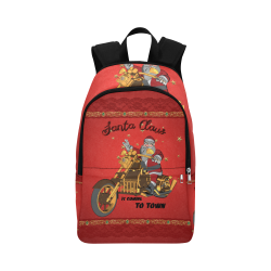Santa Claus wish you a merry Christmas Fabric Backpack for Adult (Model 1659)