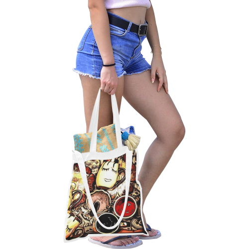 Sleepless Canvas Tote Bag/Medium (Model 1701)