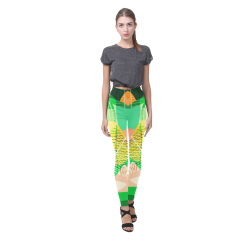 flower pattern Cassandra Women's Leggings (Model L01)