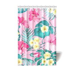 "Flowers Shower Curtain 48""x72"""