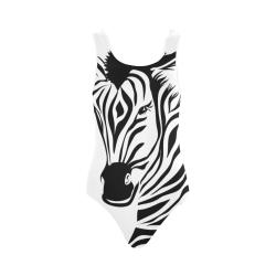Funky Zebra Vest One Piece Swimsuit (Model S04)