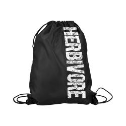 """Herbivore (vegan) Large Drawstring Bag Model 1604 (Twin Sides)  16.5""""(W) * 19.3""""(H)"""